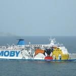 Fähre Moby Lines aus Sardinien